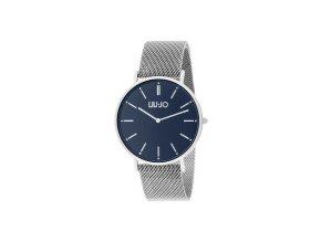 Unisex hodinky LIU JO TLJ1254 s ocelovým řemínkem a modrým číselníkem