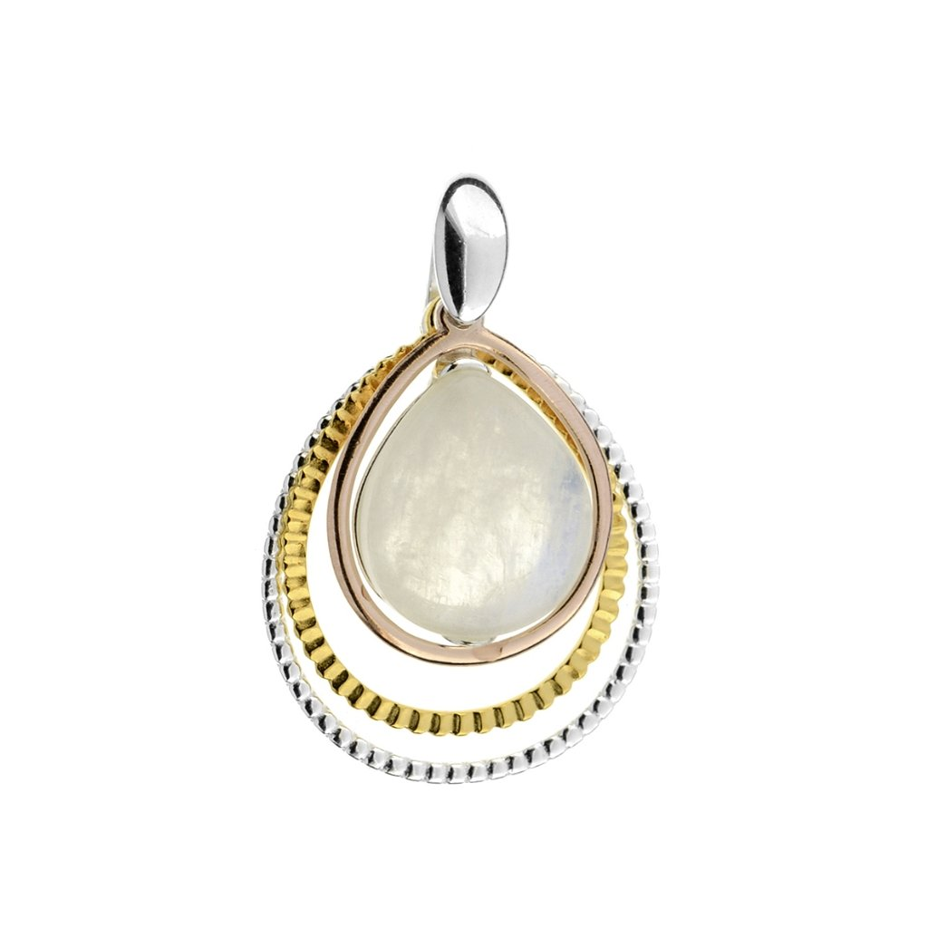 stříbrný přívěsek moon stone