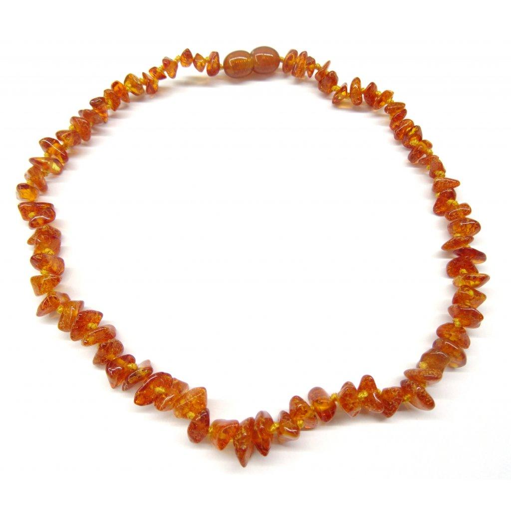 214 2 jantarove koralky pro deti prirodni medove tmave