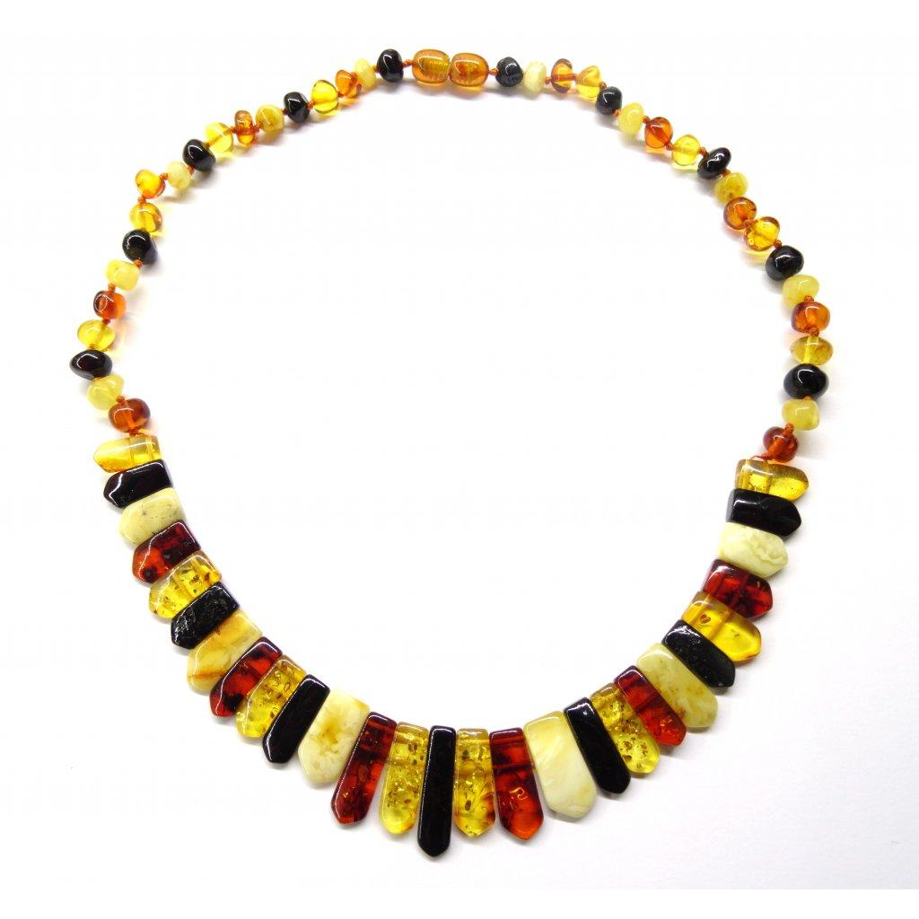 Jantarový náhrdelník - různé délky (cm 50 cm)