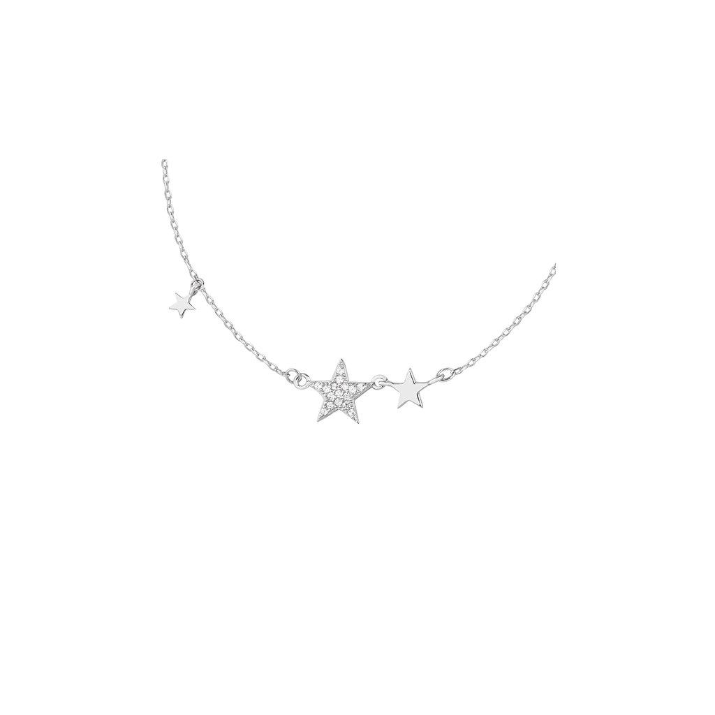 stříbrný řetízek s hvězdami