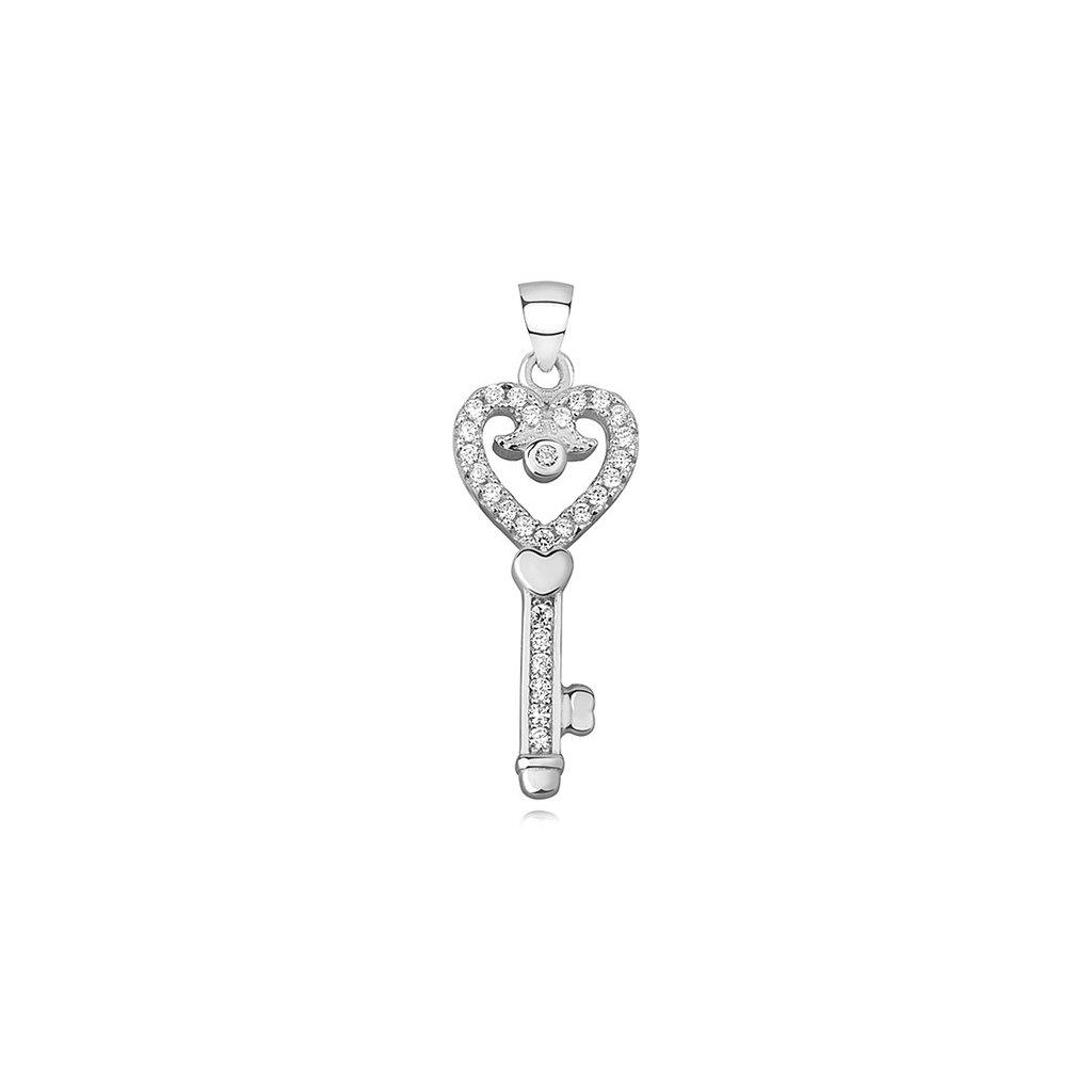 stříbrný přívěsek klíček