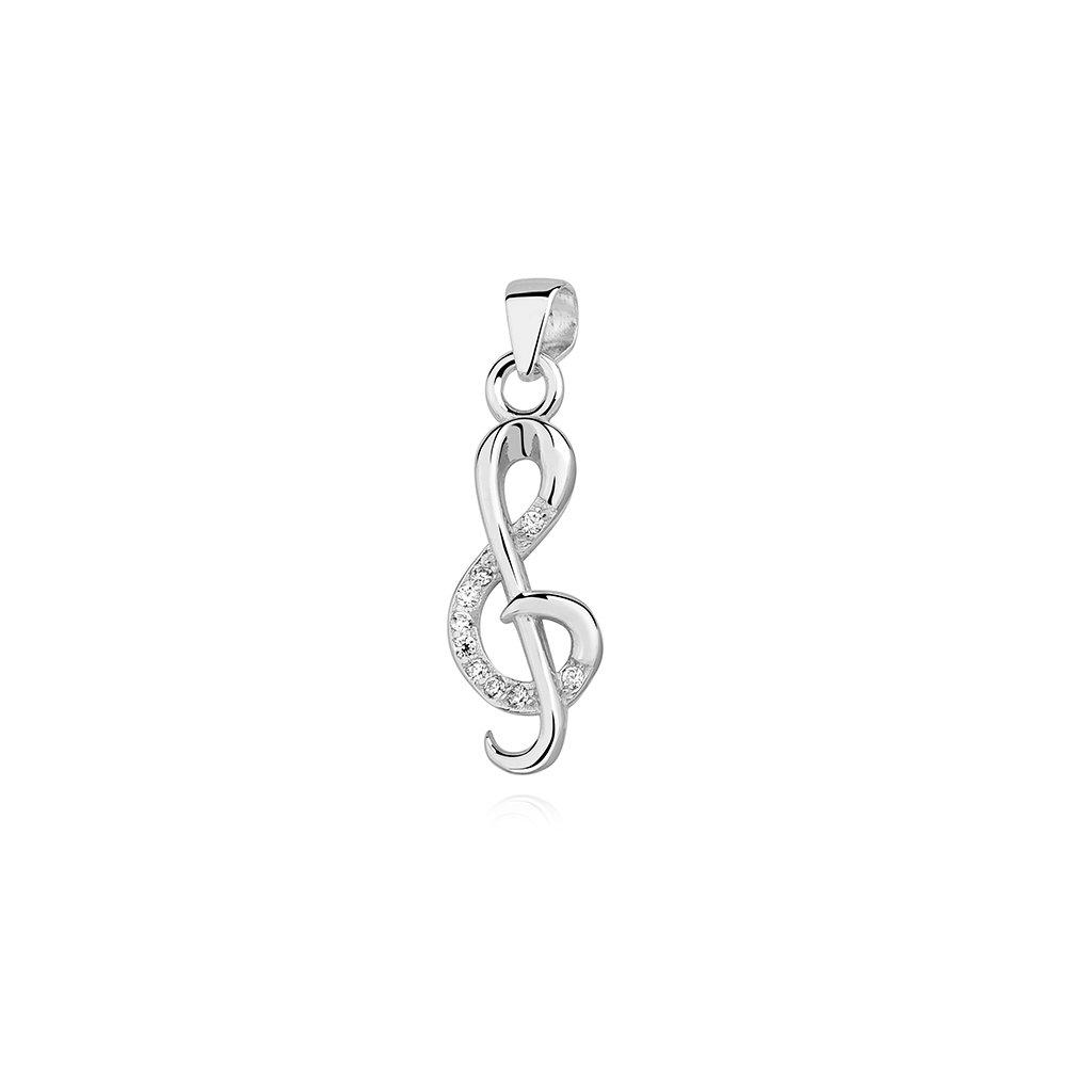 stříbrný přívěsek houslový klíč