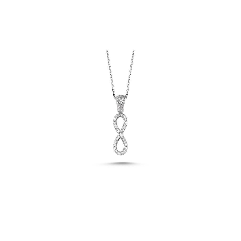 náhrdelník nekonečno se zirkony