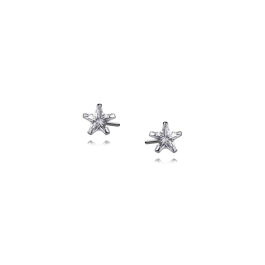 náušnice zirkonové hvězdy