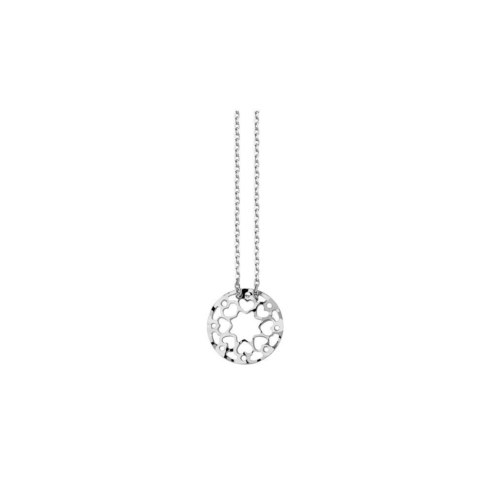 stříbrný náhrdelník srdce medailon