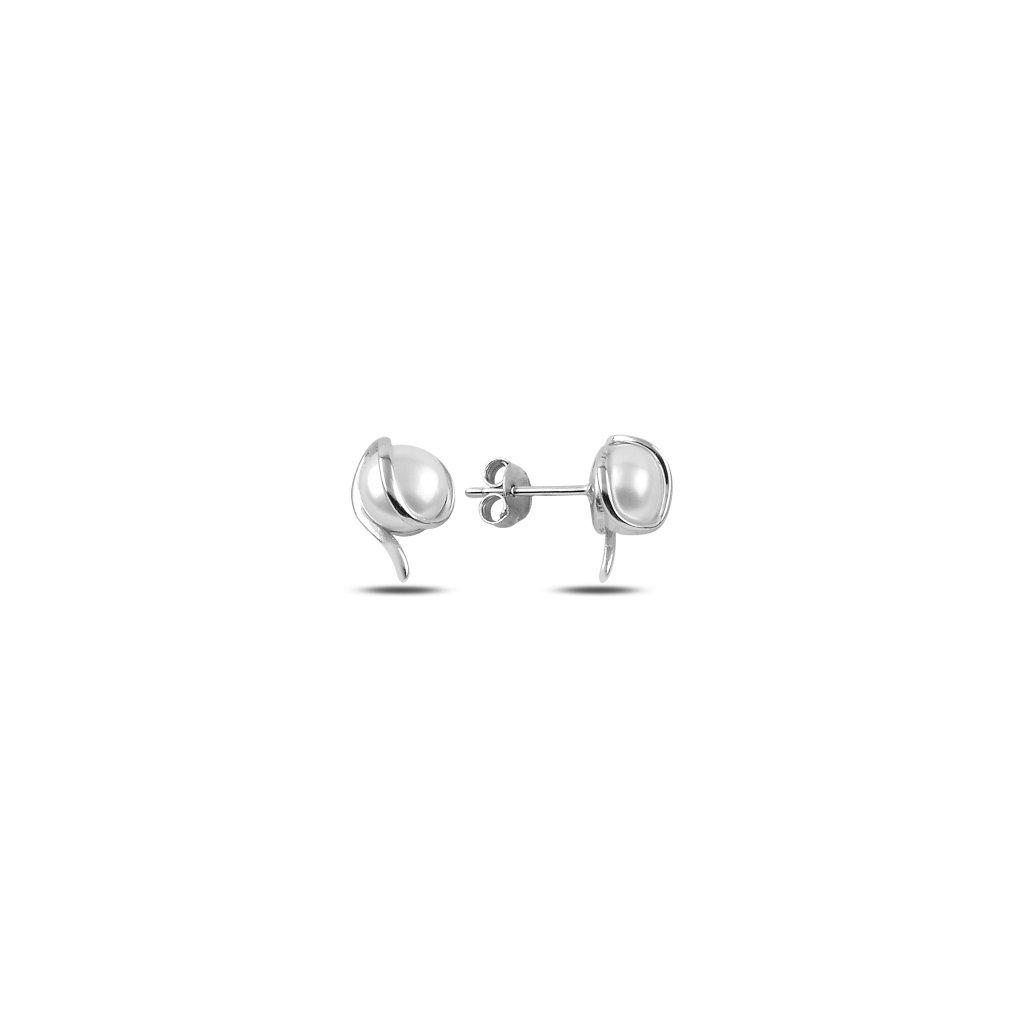Luxusní perlové náušnice - spirálky
