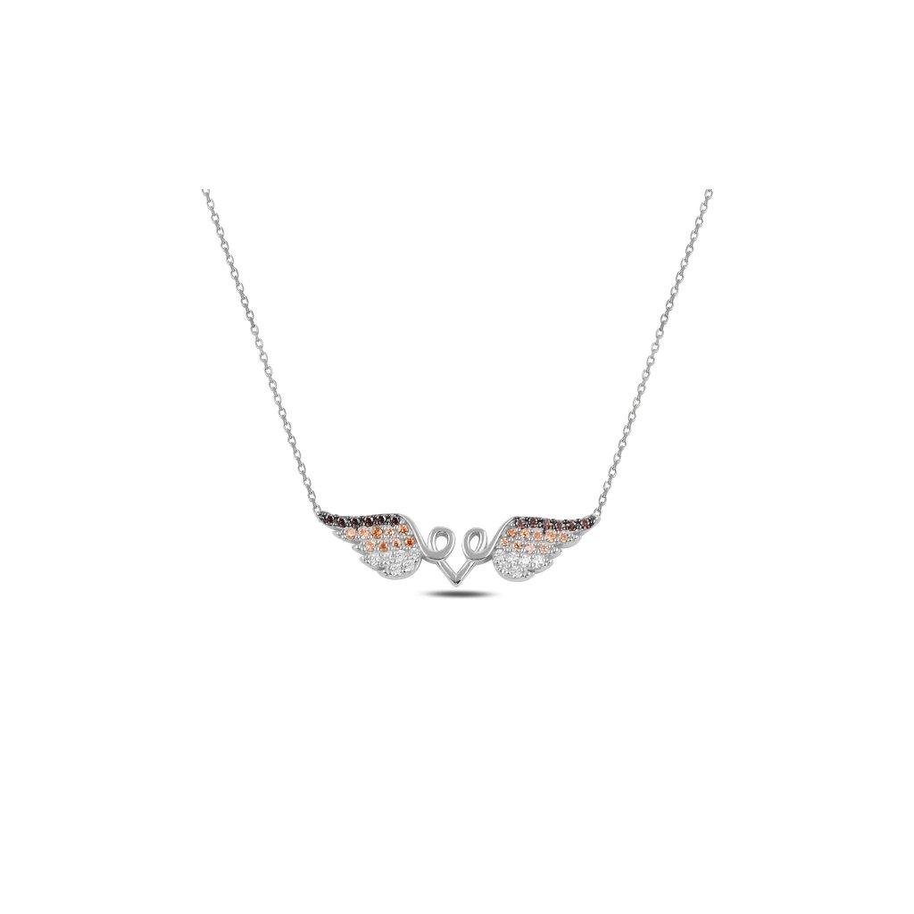 Stříbrný náhrdelník s andělskými křídly