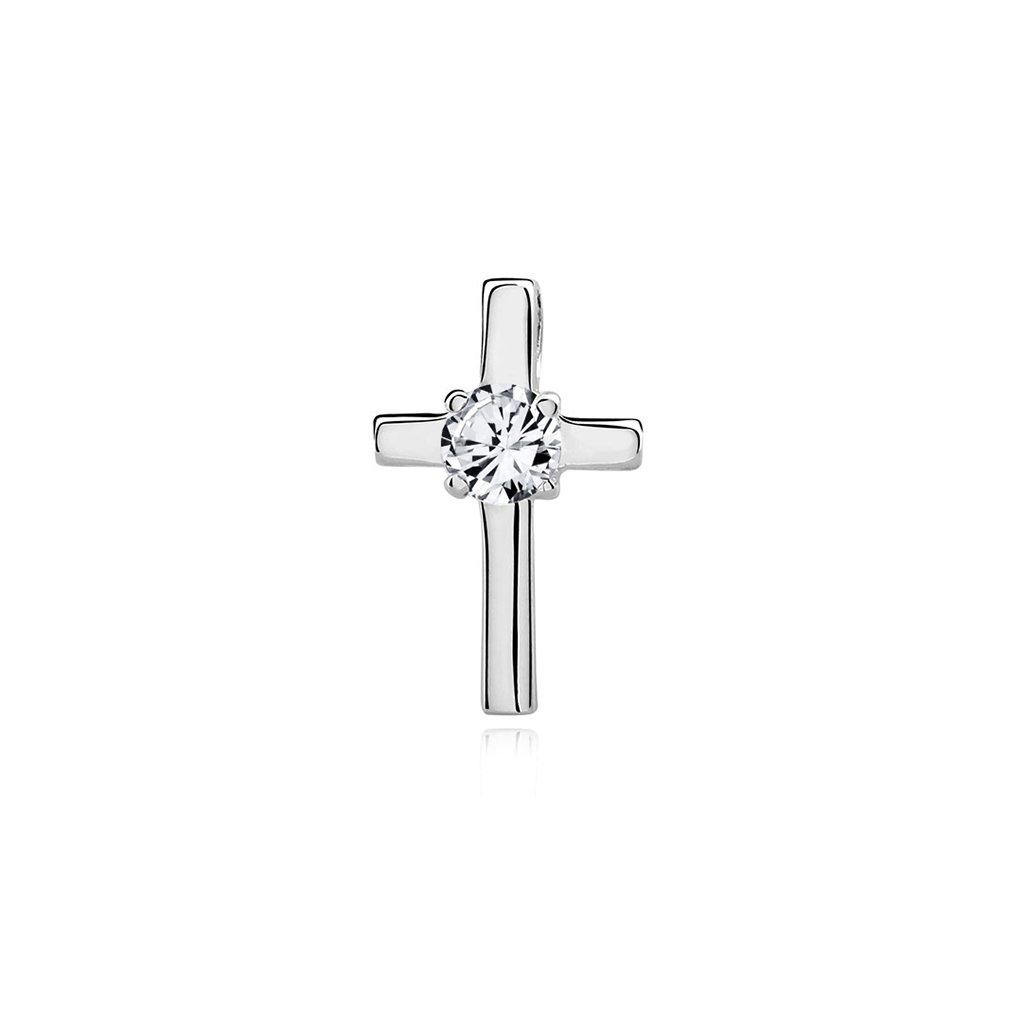 Luxusní přívěsek křížek s velkým zirkonem