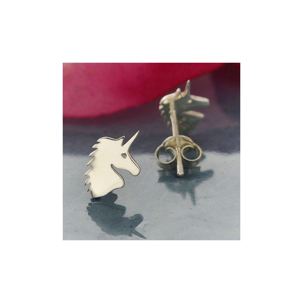 Stříbrné náušnice Unicorn.jpg2