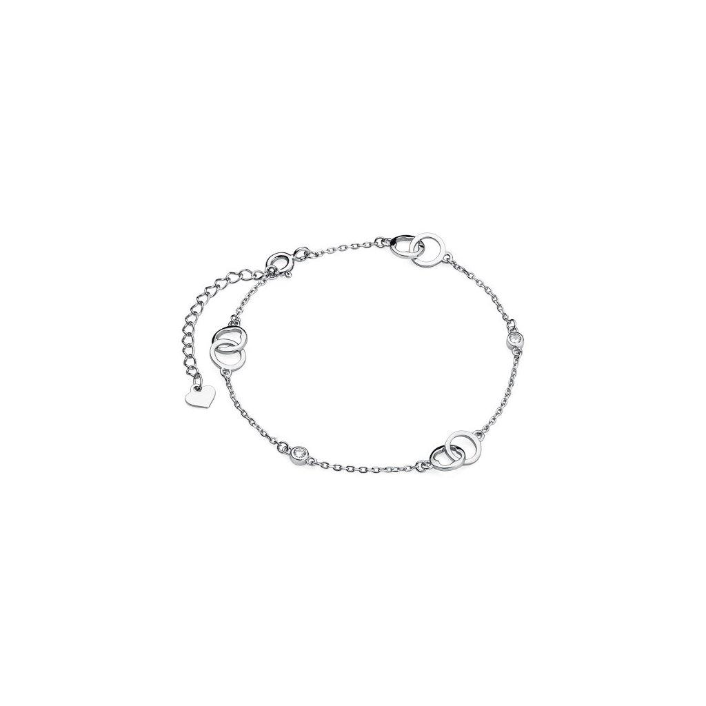stříbrný náramek kroužky