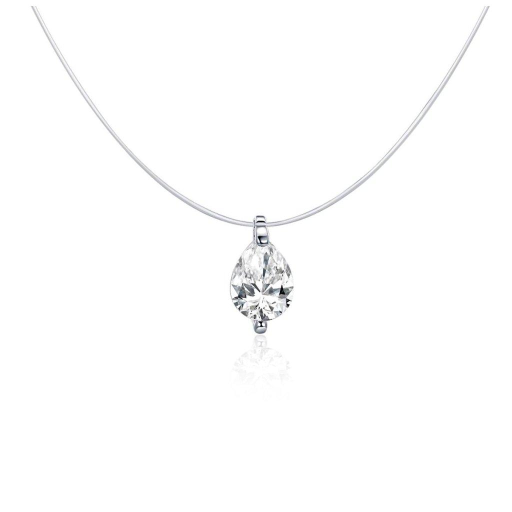 neviditelný náhrdelník slza