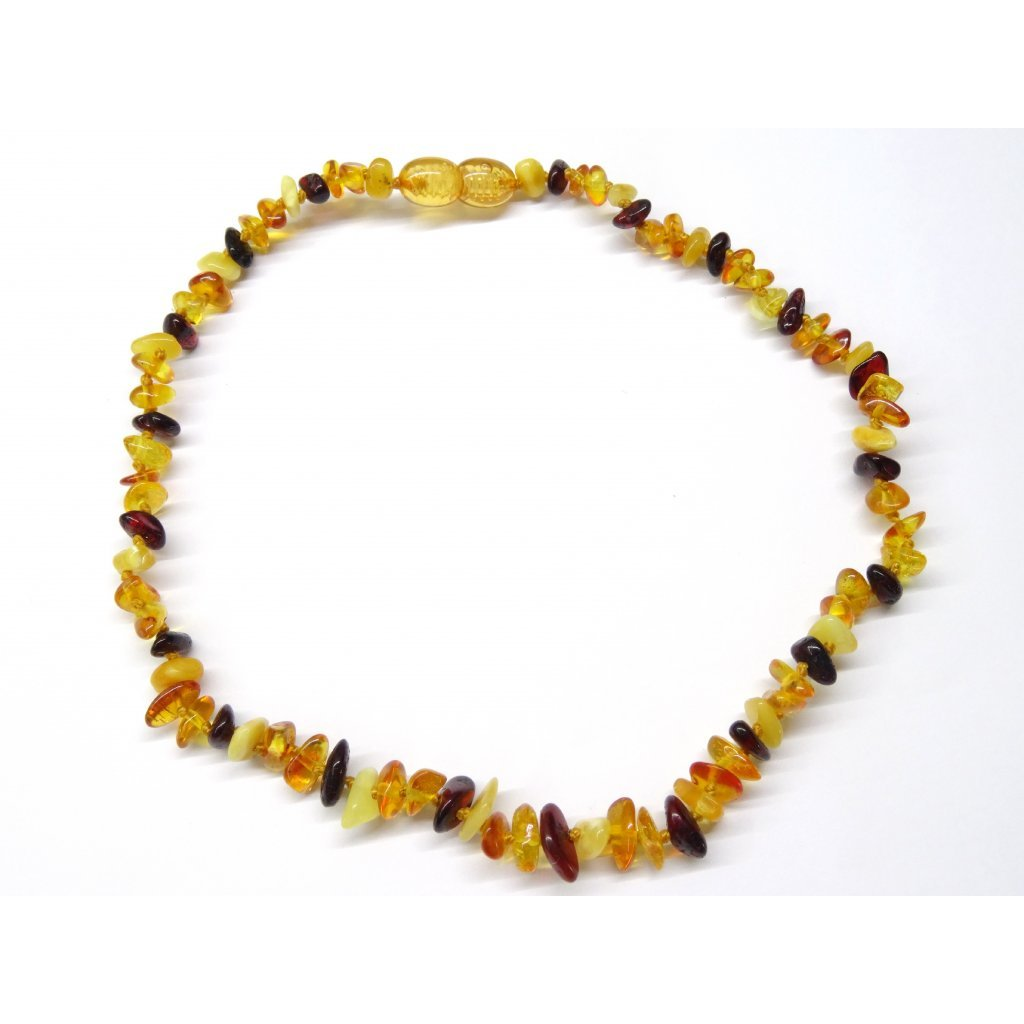 Jantarové korálky pro větší děti - přírodní multicolor (38 cm)