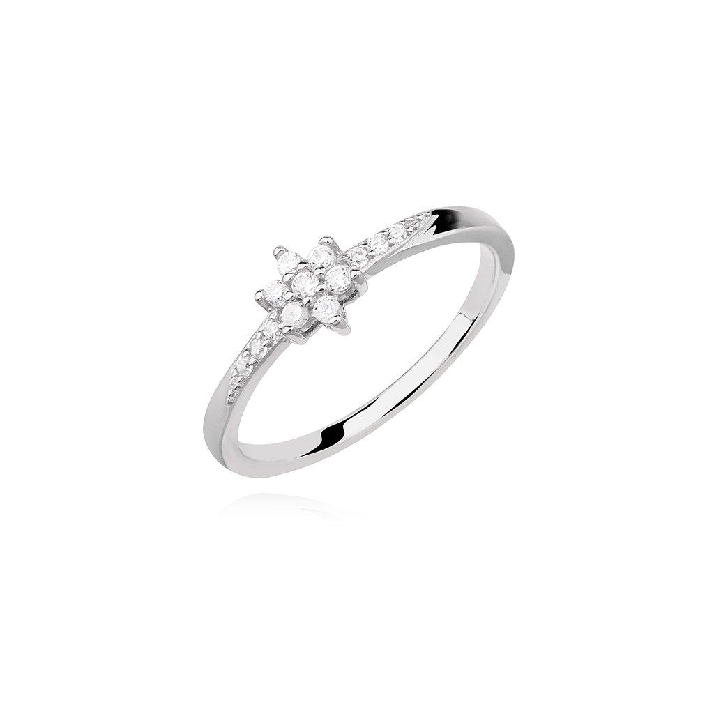 Stříbrný prsten Kytička