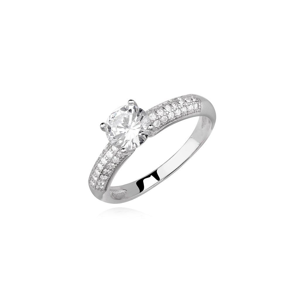 Zásnubní stříbrný prsten