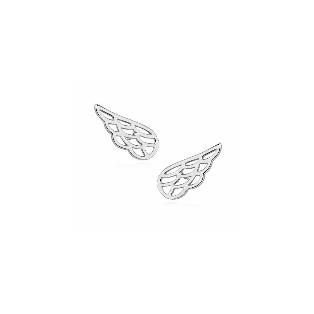 Stříbrné náušnice hladká křídla