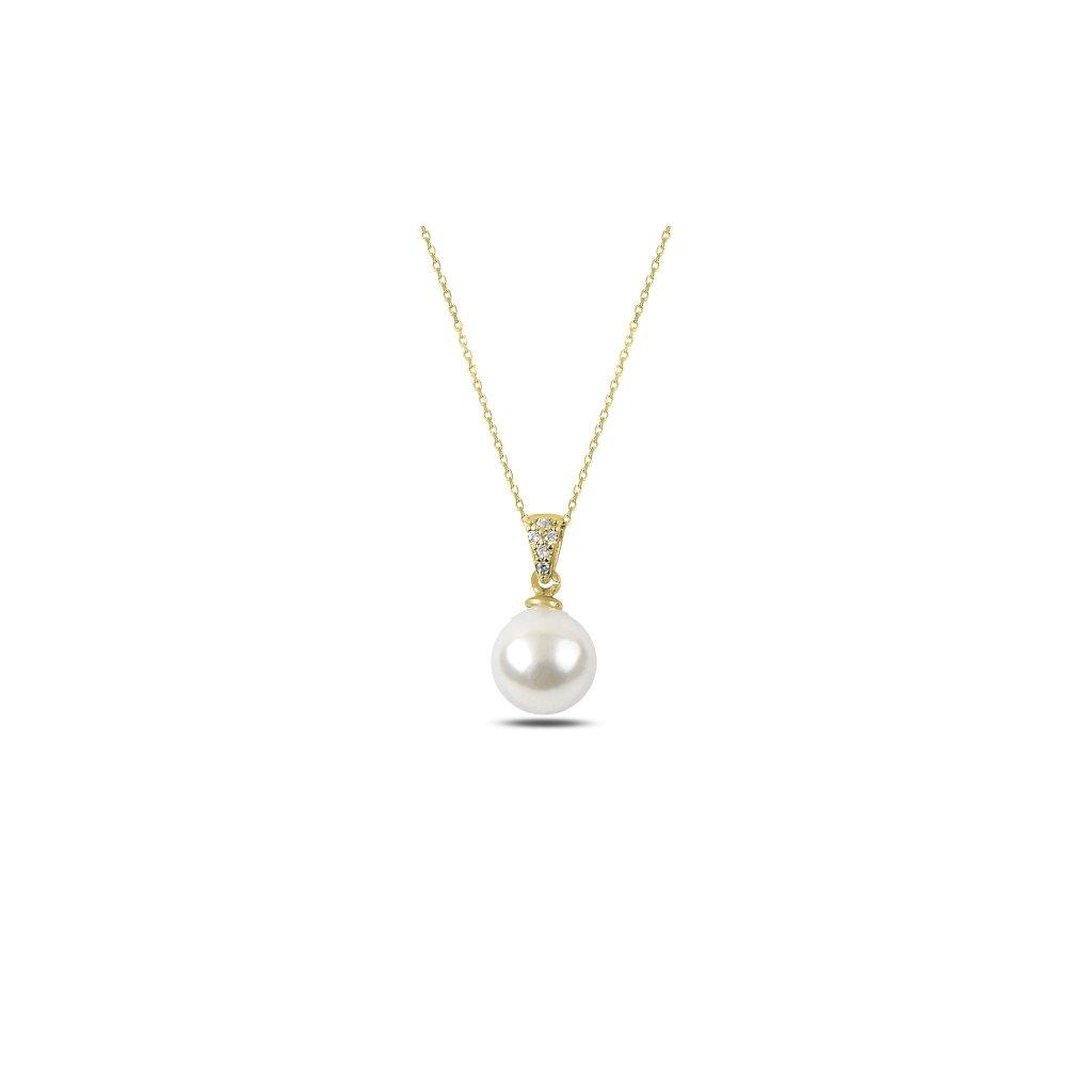 náhradelník perla žluté zlacení