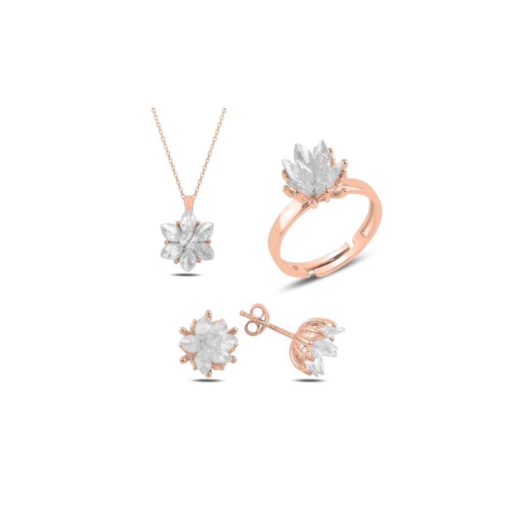 sada šperků lotos pozlacená