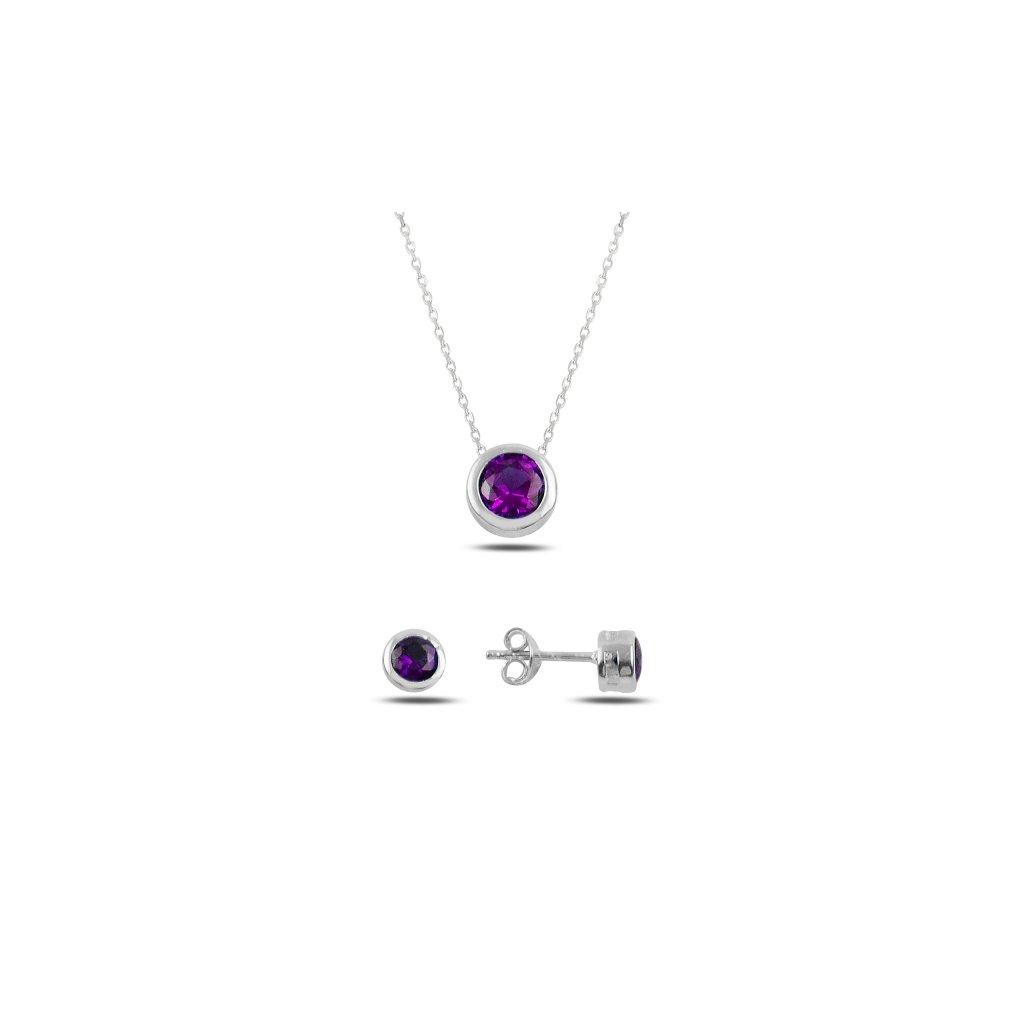 sada šperků fialová