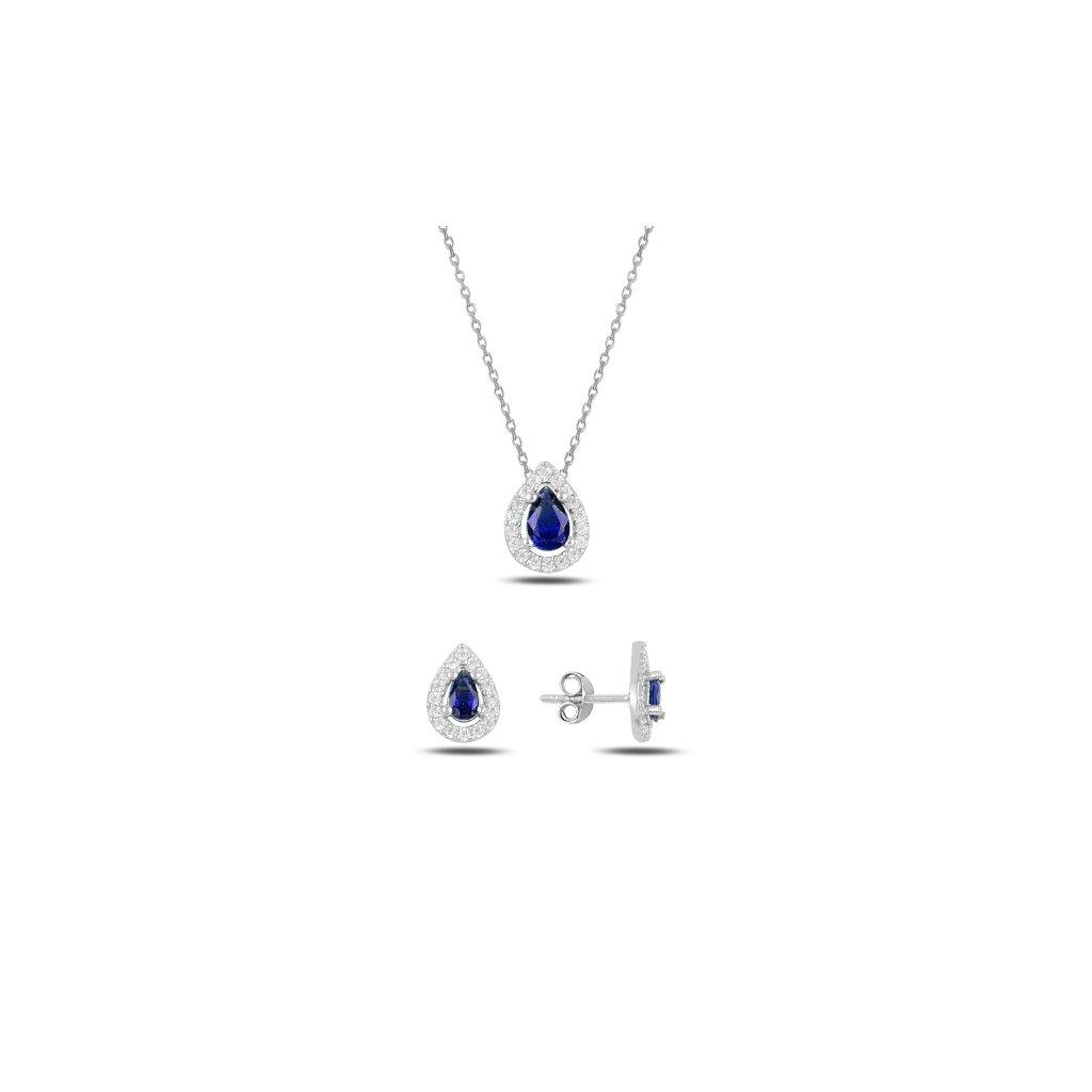 modrá sada šperků