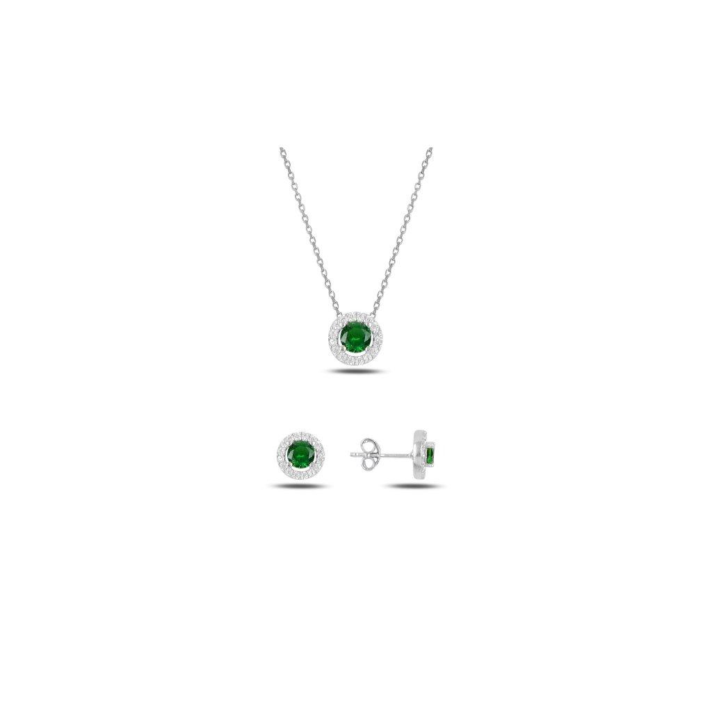 set šperků smaragdový zirkon