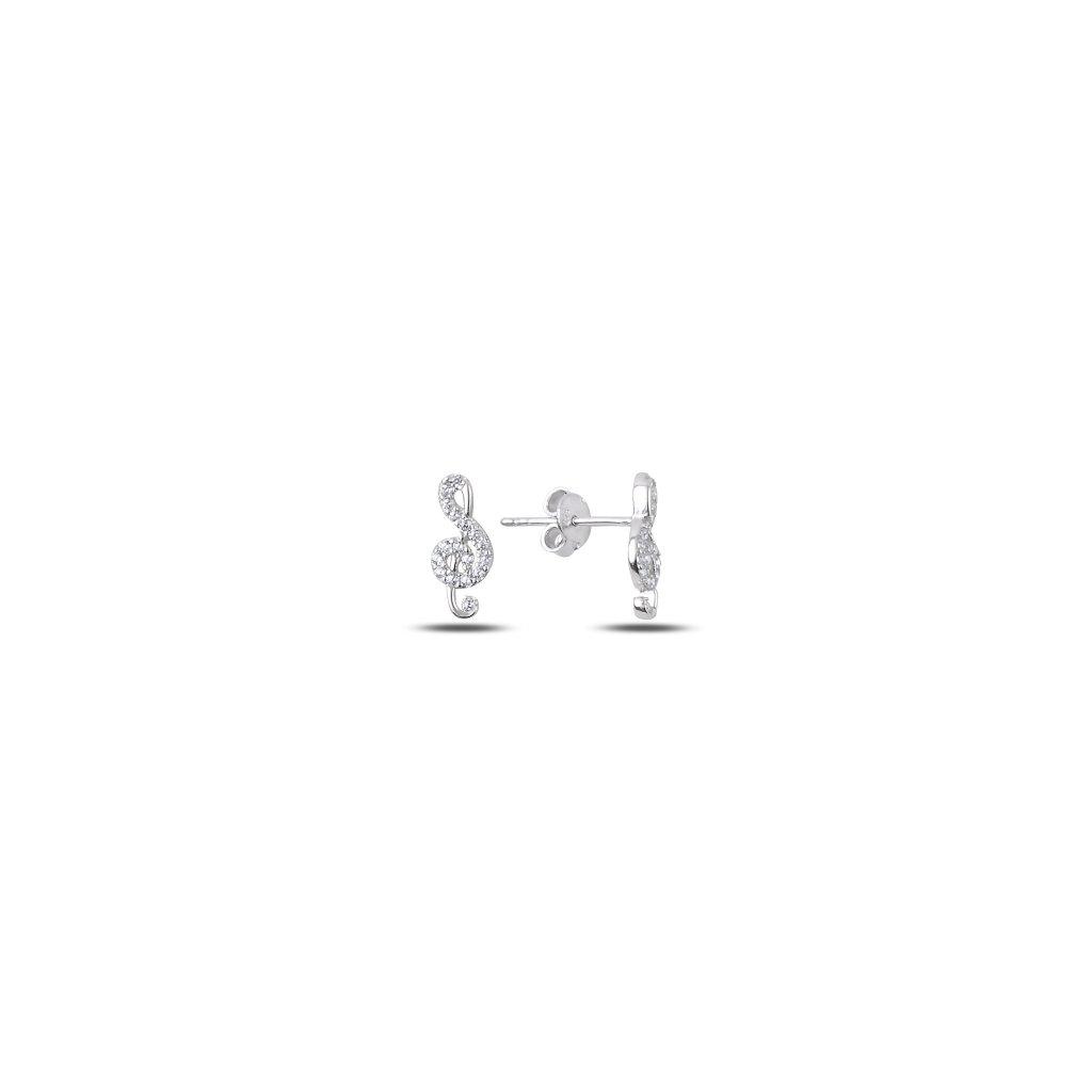 Stříbrné náušnice houslový klíč