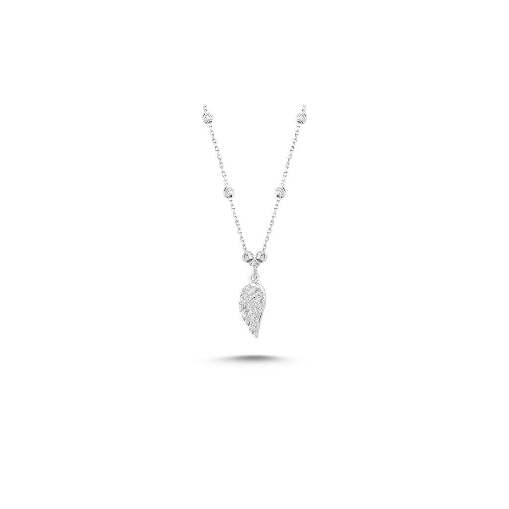 Stříbrný náhrdelník andělské křídlo