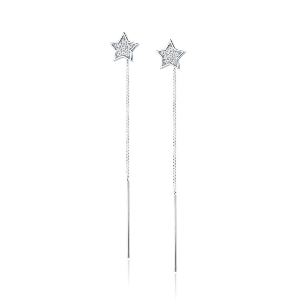 řetízkové náušnice hvězda