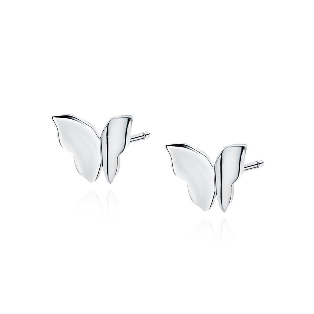 Stříbrné náušnice motýl