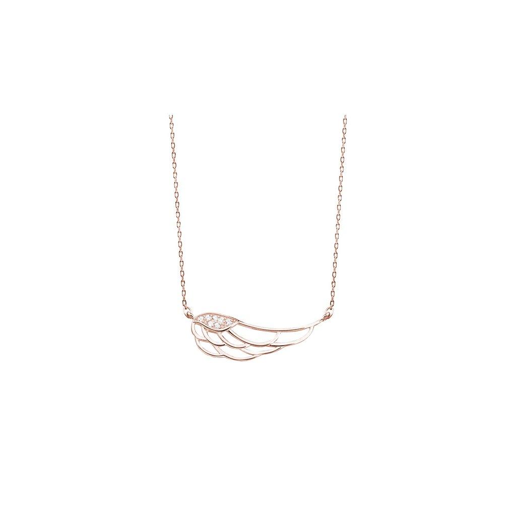 stříbrný náhrdelník s andělským křídlem