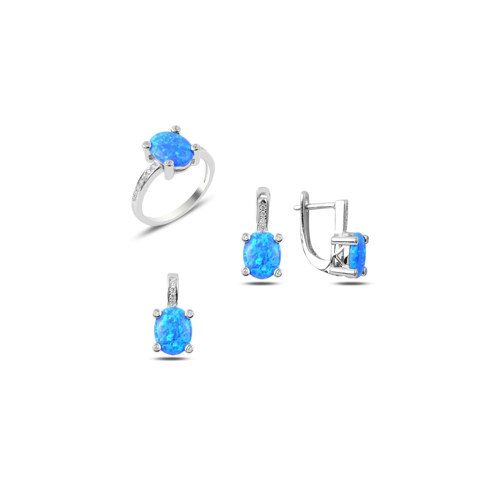 sada šperků modrý opál