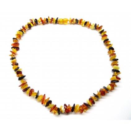 1149 1 jantarovy nahrdelnik 45 cm prirodni multicolor