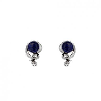 stříbrné náušnice s lapisem lazuli
