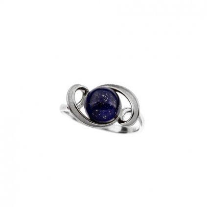 stříbrný prsten s lapisem lazuli