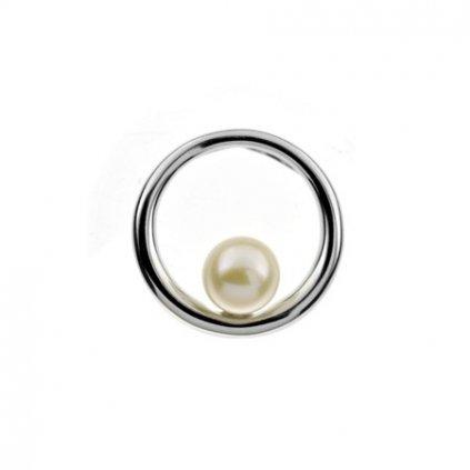 stříbrný přívěsek s perlou