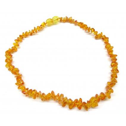 184 jantarove koralky pro deti prirodni medove svetle