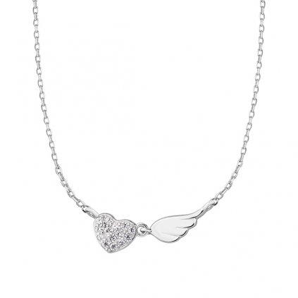 náhrdelník srdce křidélko