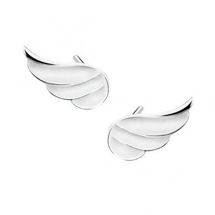 zdobená křídla náušnice