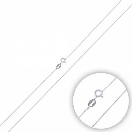 Stříbrné řetízek - hladký, lanko 45 cm, 15