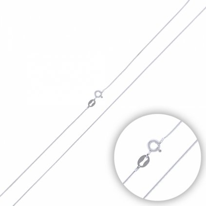 Stříbrné řetízek - hladký, lanko 40 cm