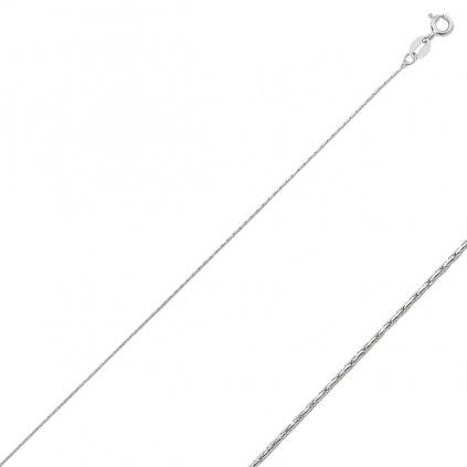 Stříbrné řetízek - tenčí lanko 40 cm