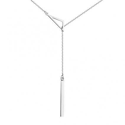 Stříbrný provlékací náhrdelník