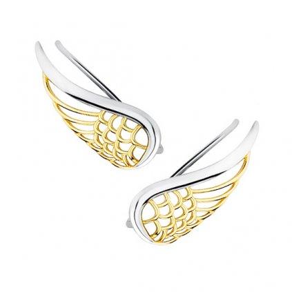 náušnice andělská křídla