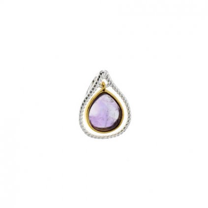 eng pm Silver pendant with amethyst 3766 1