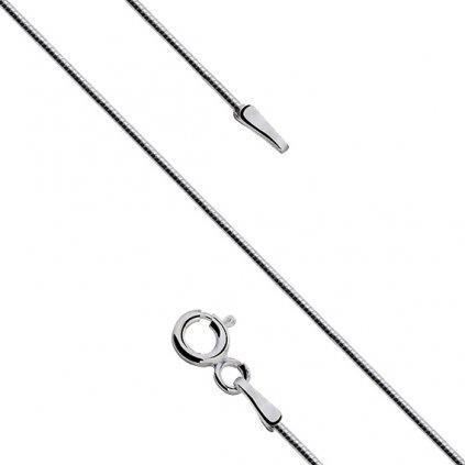 Stříbrný řetízek - tenké lanko 38 cm