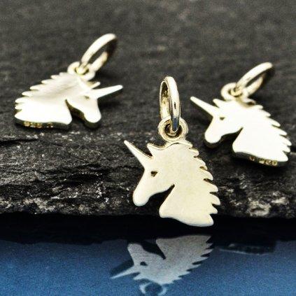 Stříbrný přívěsek jednorožec Unicorn