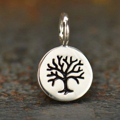 Stříbrný přívěsek malý medailon strom života