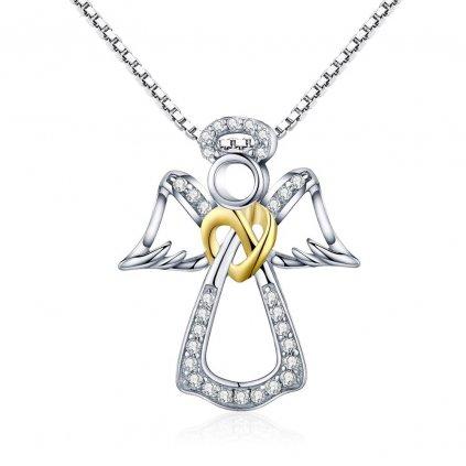 Luxusní náhrdelník anděl se zirkony
