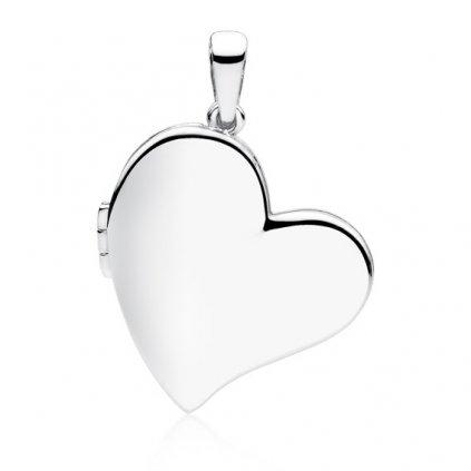 Luxusní přívěsek medailon ve tvaru srdce