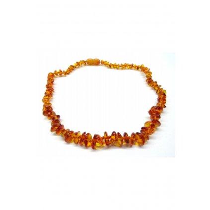 Jantarový náhrdelník 45 cm - přírodní, medový, tmavý